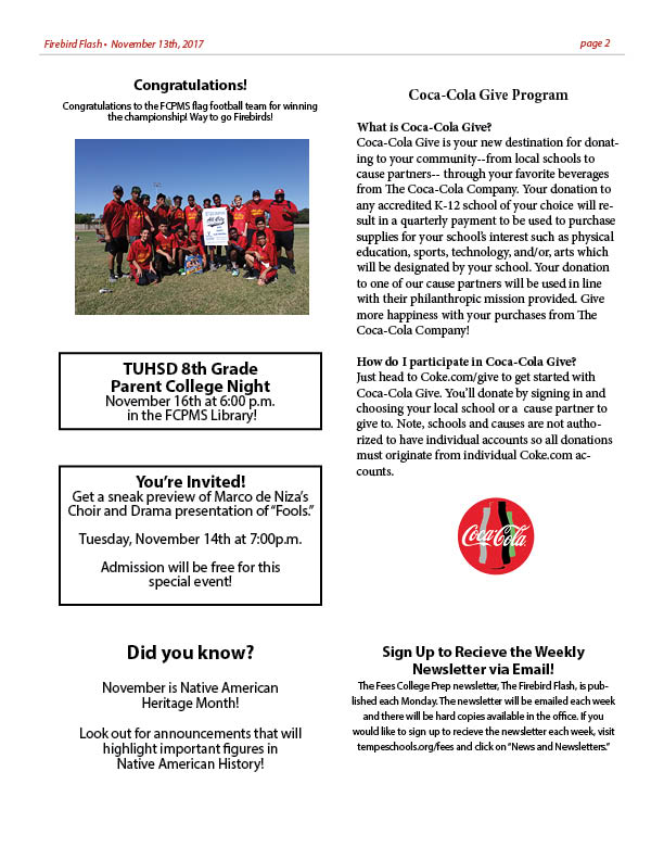 Parent newsletter 111320172