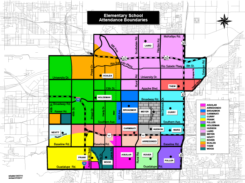District Map - Color - Elementary Boundaries