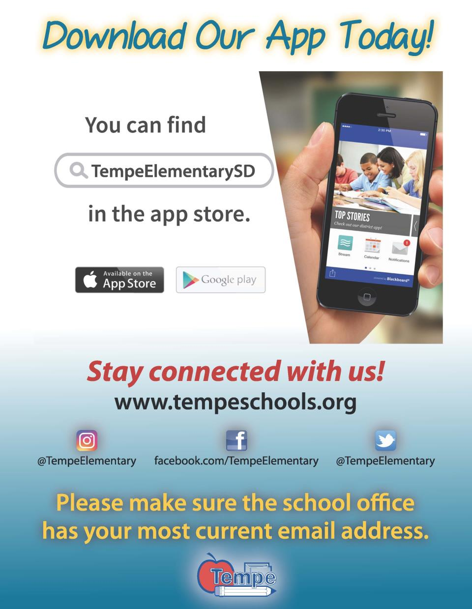 Connect with Tempe Elementary | Tempe Elementary School District No3