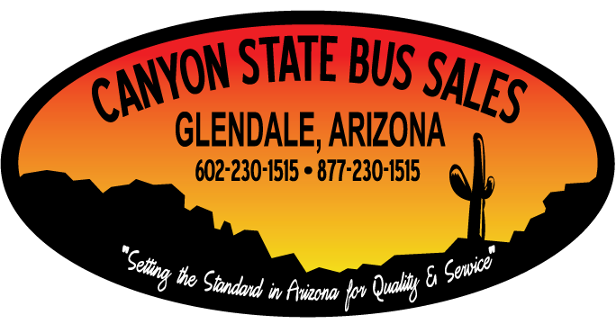 Canyon State Bus Sales Logo_csb-logo desert scene silouette with sunset in oval