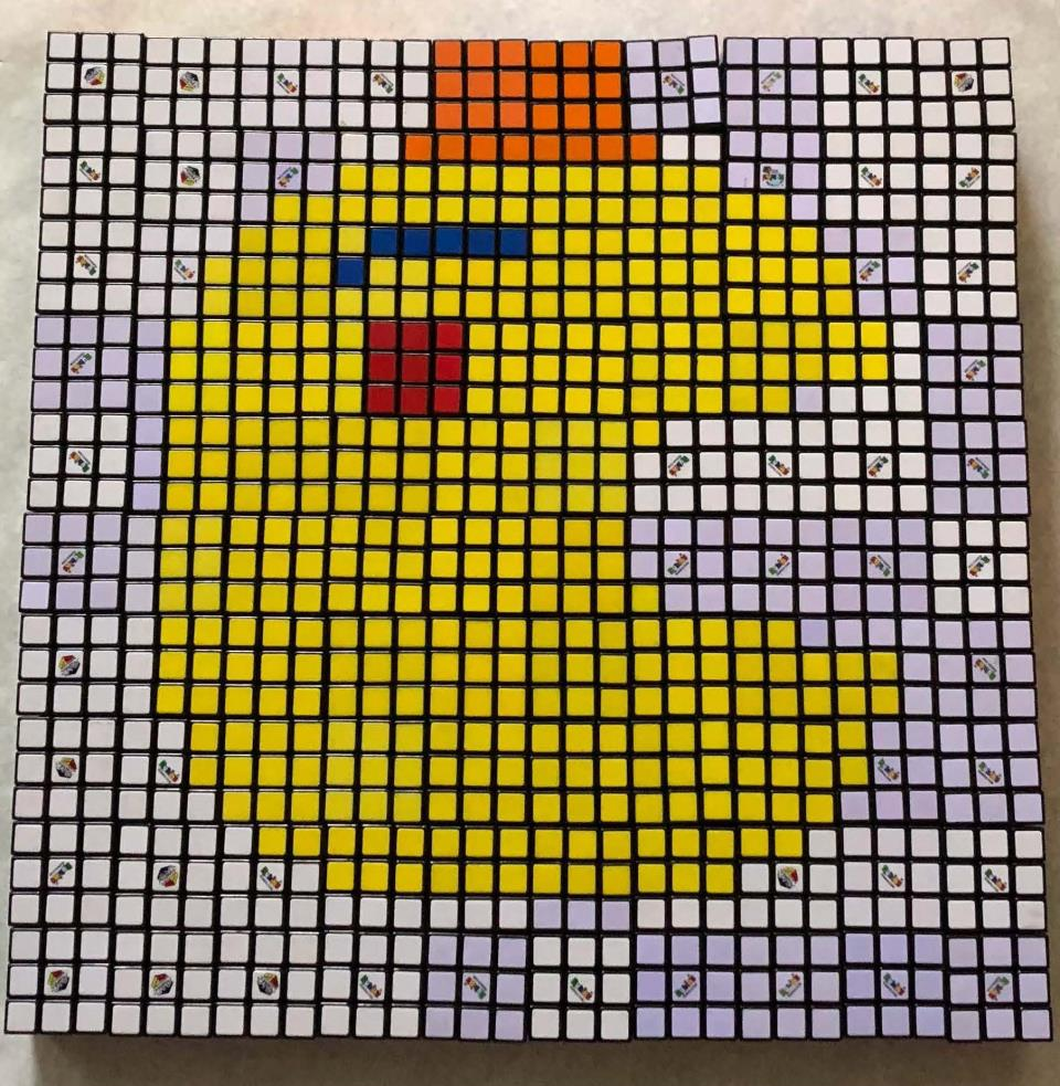 Roller- Classy Pac Man Mosaic- By Ben L.
