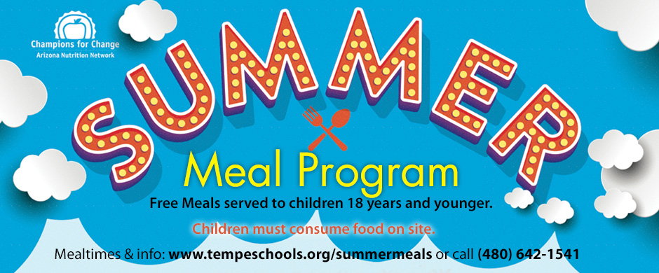 Summer Meal Program - Free meals served to children 18 years and younger