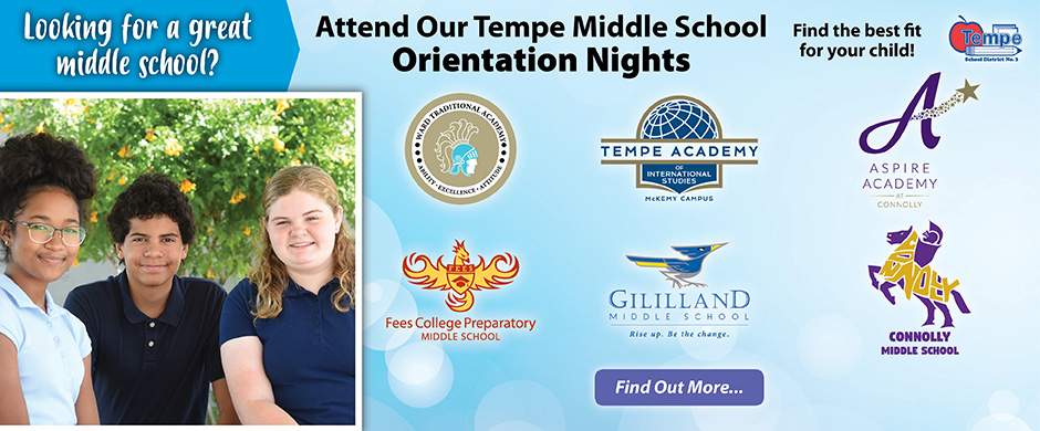 Attend Our Middle School Orientation Nights