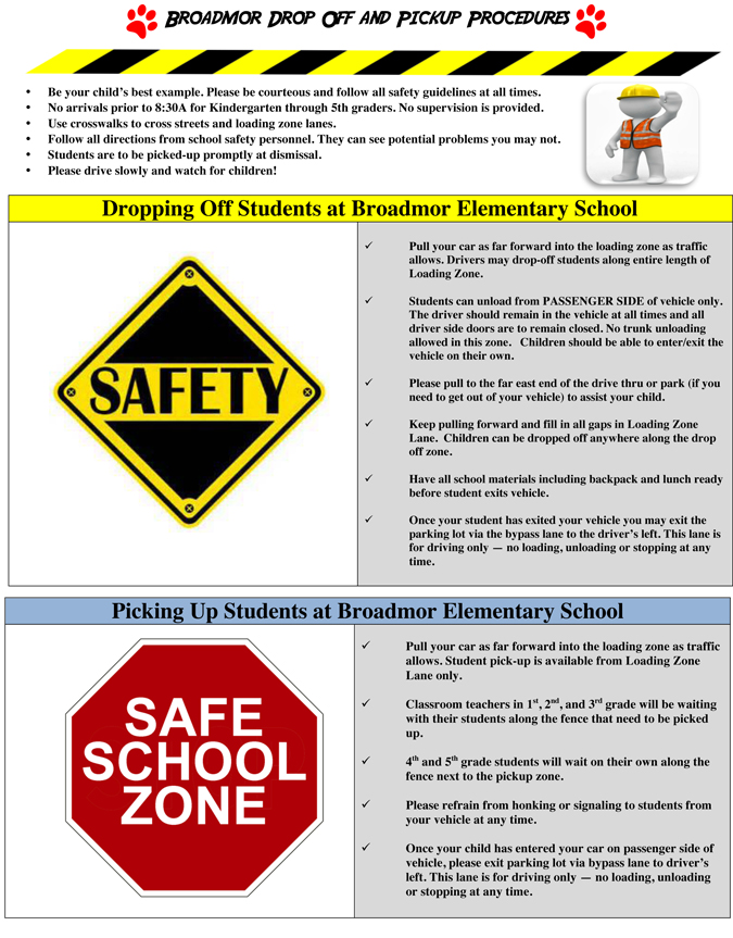 Drop Off And Pick Up Procedures Tempe Elementary School District No3