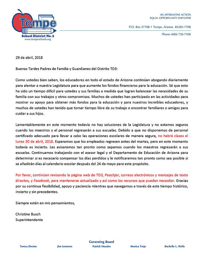 Parent Letter_Walkout_NoSchool_April30_2018_Span_web