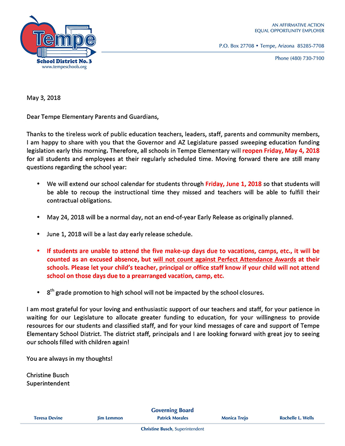 Parent Letter_Walkout_School Resumes_May 4_2018_English